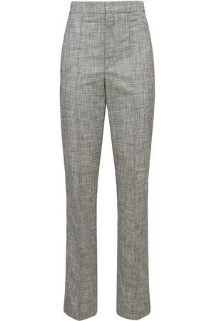 Isabel Marant Women Trousers - Lirokia Checked Suit Cotton Pants