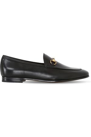 Gucci Women Loafers - 10mm Jordaan Horsebit Leather Loafers