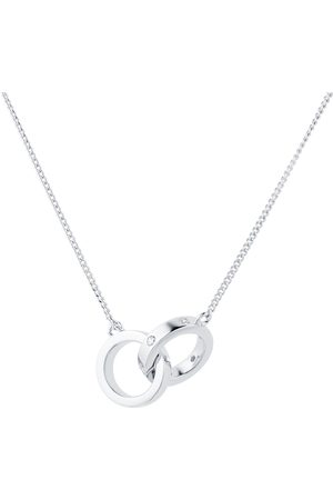GOLDSMITHS Women Necklaces - Silver Cubic Zirconia Station Necklace