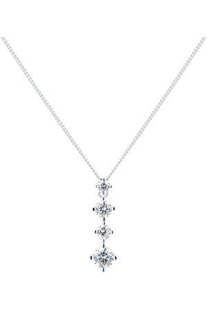 GOLDSMITHS Women Necklaces - Silver Mixed Cut Cubic Zirconia Pendant