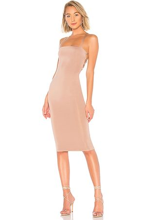 superdown Yvonne Laced Back Midi Dress in . Size XS, S, XL.