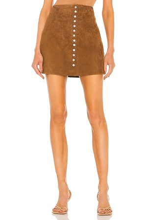 BLANK NYC Women Leather Skirts - Suede Snap Skirt in . Size 27, 25, 26, 28, 29, 31.