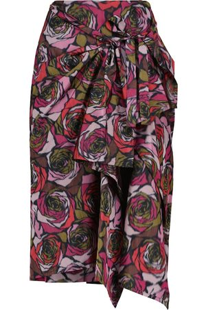 DRIES VAN NOTEN Floral midi skirt