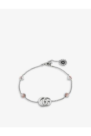 Gucci Women Bracelets - Double GG sterling- and mother of pearl bracelet