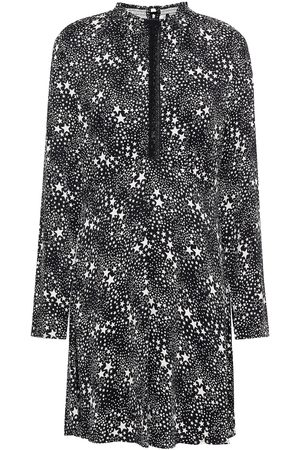 Maje Women Printed Dresses - Woman Velvet-trimmed Printed Cupro-blend Mini Dress Size 36