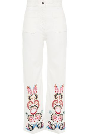 Etro Women Straight - Woman Embellished High-rise Straight-leg Jeans Size 26