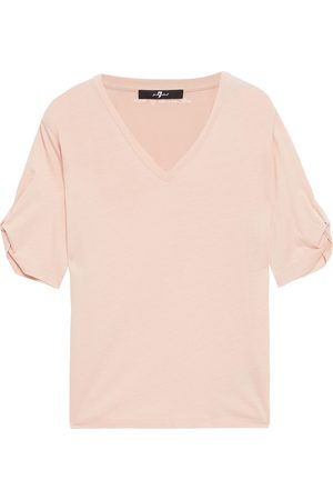 7 for all Mankind Woman Cotton And Modal-blend Jersey T-shirt Blush Size L
