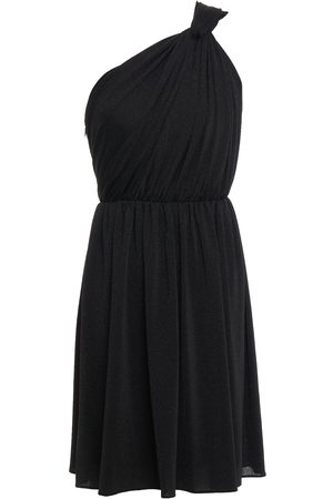 Halston Heritage Women Knitted Dresses - Woman Rory One-shoulder Draped Knitted Mini Dress Size 10