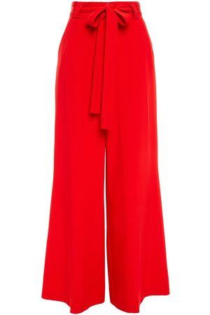 Etro Women Wide Leg Trousers - Woman Belted Silk-satin Wide-leg Pants Size 38