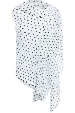 Roland Mouret Woman Pasha Draped Printed Crepon Top Size 10