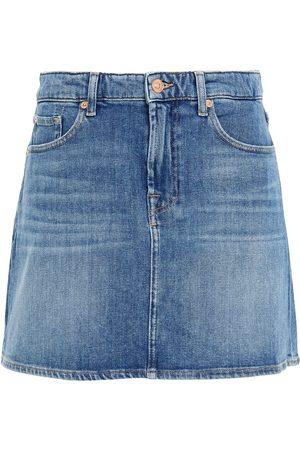 7 for all Mankind Women Mini Skirts - Woman Denim Mini Skirt Mid Denim Size 23