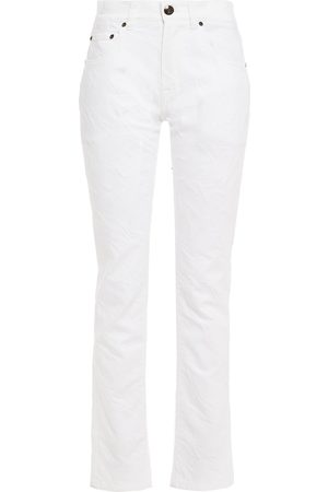 Etro Women Slim - Woman Denim-jacquard High-rise Straight-leg Jeans Size 31
