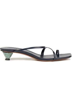 Neous Woman Axis Leather Sandals Navy Size 36