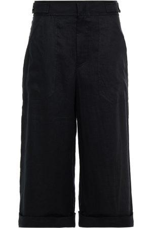 Equipment Woman Cropped Linen Wide-leg Pants Size 10