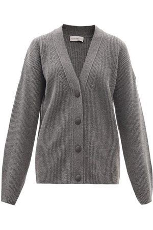 Moncler Rib-knitted Virgin Wool-blend Cardigan - Womens