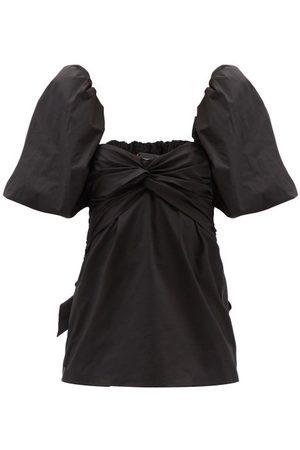 JOHANNA ORTIZ Women Tops - Puff-sleeves Cotton-blend Poplin Top - Womens