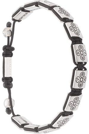 Nialaya Jewelry Men Bracelets - Dorje beaded bracelet - Metallic
