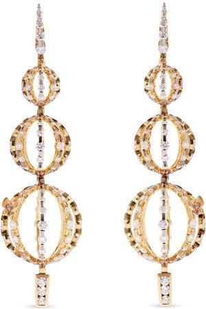 ANNOUSHKA 18kt yellow diamond Unique orb drop earrings