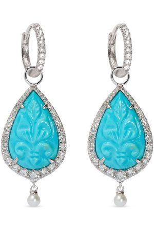 ANNOUSHKA Women Earrings - 18kt white gold diamond Unique pearl earrings
