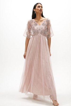 Coast Women Skirts - Coast Angel Sleeve Hand Embellished Maxi Dress