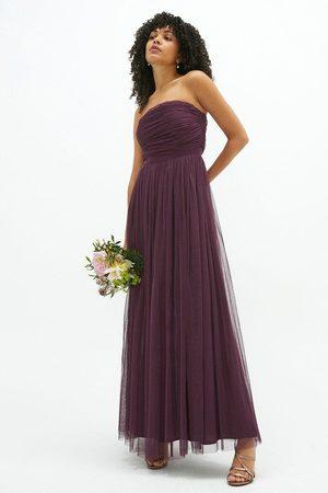 Coast Women Strapless Dresses - Coast Bandeau Tulle Maxi Dress