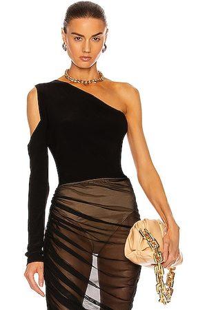 Norma Kamali One Shoulder One Sleeve Top in