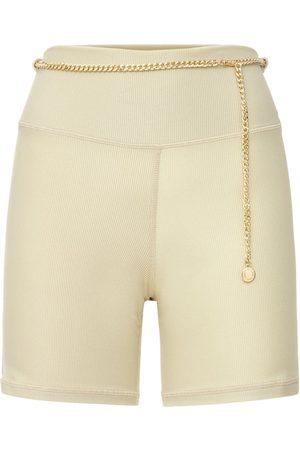 WeWoreWhat Women Trousers - Chain Bike Shorts