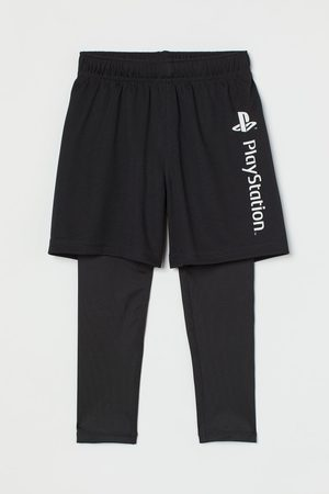 H&M Sports Leggings - Sports tights with shorts
