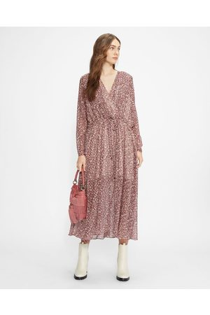 Ted Baker Draped Midi With Batwing Sleeve