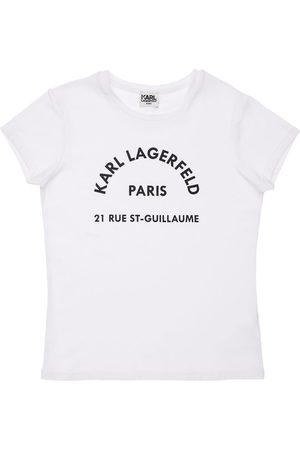 Karl Lagerfeld Logo Print Organic Cotton Blend T-shirt