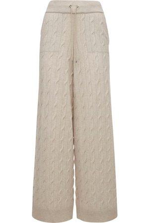 Ralph Lauren Wide Leg Cashmere Knit Trousers