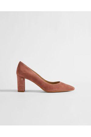 Ted Baker Women Heels - Suede 70mm Block Heel Court Shoe