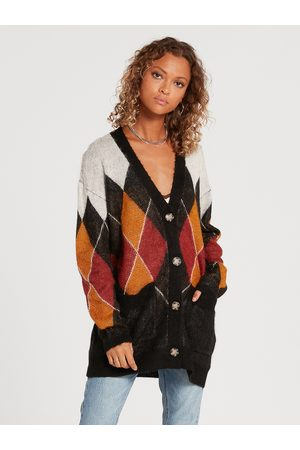 Volcom Women Cardigans - Women's Knitty City Cardigan - COMBO