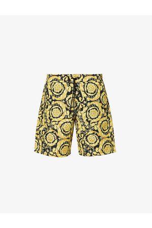 VERSACE Men Swim Shorts - Baroque-print swim trunks