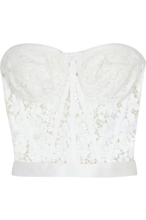 Dolce & Gabbana Strapless lace bustier top