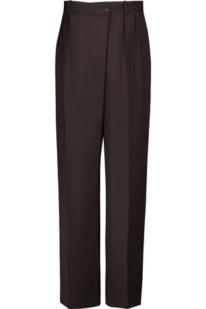The Row Women Wide Leg Trousers - Willow high-rise wide-leg wool pants