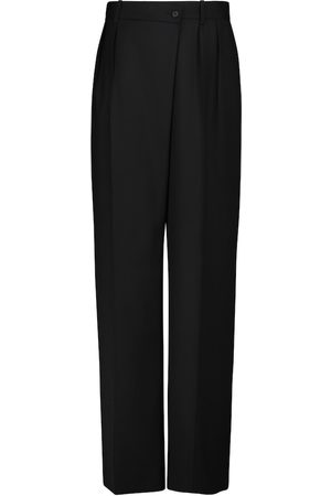 The Row Willow high-rise wide-leg wool pants