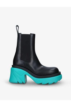 Bottega Veneta Flash colour-blocked leather ankle boots