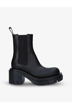 Bottega Veneta Lug heeled leather ankle boots
