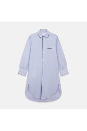 Turnbull & Asser Fine Bengal Stripe Piped Cotton Nightshirt