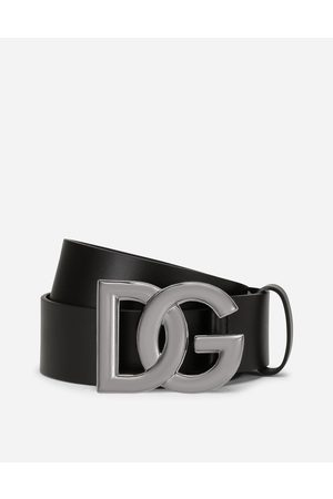 Dolce & Gabbana Belts - Lux leather belt with crossover DG logo buckle male 80