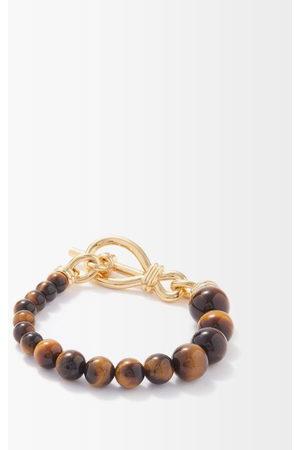 Missoma Women Bracelets - Tiger's Eye & 18kt -plated Bracelet - Womens