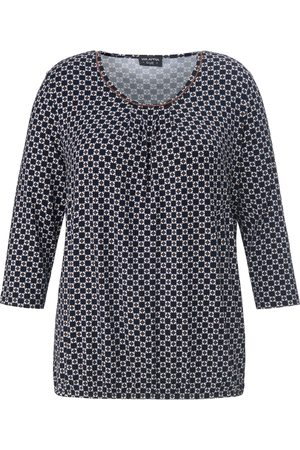 Via Appia Due Round neck top 3/4-length sleeves size: 16