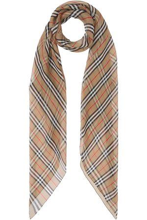 Burberry Icon stripe silk chiffon scarf