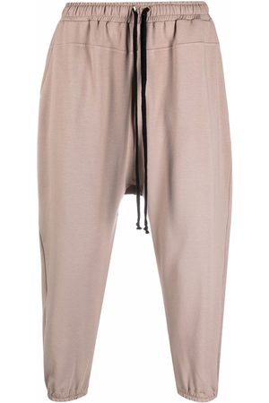 Alchemy Trousers - Elasticated-waist cotton cropped trousers - Neutrals