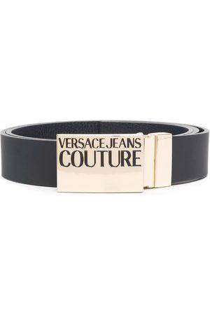 VERSACE Logo plaque leather belt