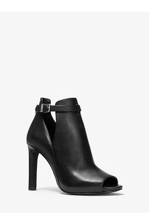 Michael Kors Women Ankle Boots - MK Lawson Leather Open-Toe Ankle Boot - - Michael Kors