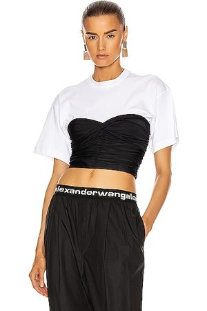 Alexander Wang Ruched Bodycon Top in &