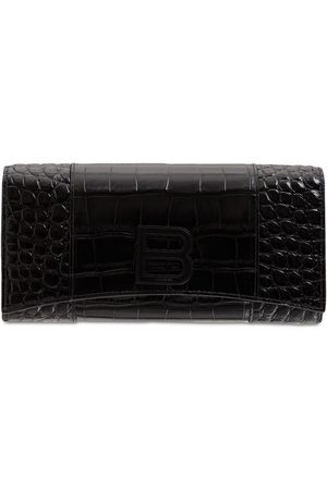 Balenciaga Hourglass Leather Continental Wallet