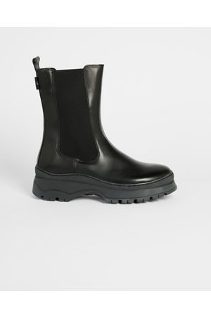 Ted Baker Women Chelsea Boots - Leather Chelsea Chunky Sole Boot